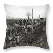 Military Railway, C1863 Throw Pillow