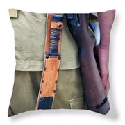 Military Small Arms 01 Ww II Throw Pillow by Thomas Woolworth