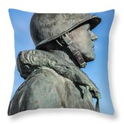 Military Soldier Throw Pillow