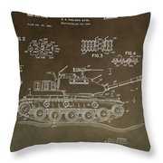 Military Tank Patent Throw Pillow