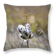 Milk Weed Seed Throw Pillow