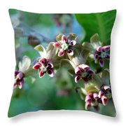 Milkweed Bloom Throw Pillow