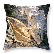 Milkweed II Throw Pillow