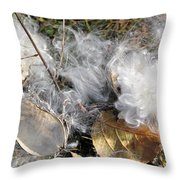 Milkweed Landing Throw Pillow