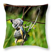Milkweed Retirement  Throw Pillow