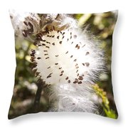 Milkweed Seeds 3 Throw Pillow