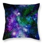 Milky Way Abstract Throw Pillow