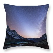Milky Way And Zodiacal Light Ove Throw Pillow