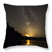 Milky Way At Crafnant 2 Throw Pillow