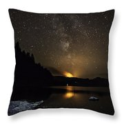 Milky Way At Crafnant Throw Pillow