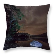 Milky Way At Gwenant Throw Pillow