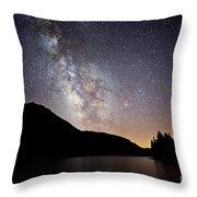 Milky Way At Highland Lakes Throw Pillow
