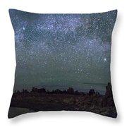 Milky Way At Mono Lake Throw Pillow