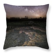 Milky Way On The Rock Throw Pillow