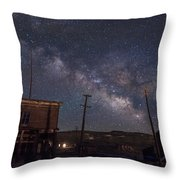 Milky Way Over Bodie Hotels Throw Pillow
