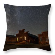 Milky Way Over Downtown Bodie Throw Pillow