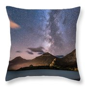 Milky Way Over Prince Of Wales Hotel Throw Pillow