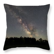 Milky Way Rising  Throw Pillow