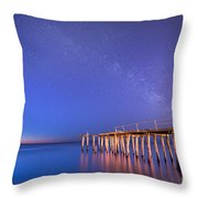Milky Way Sunrise Throw Pillow