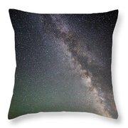 Milkyway Over Stonehenge Throw Pillow