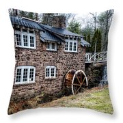 Mill Along The Delaware River In West Trenton Throw Pillow