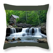 Mill And Waterfall Throw Pillow