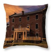 Mill At Dusk Throw Pillow