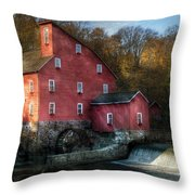 Mill - Clinton Nj - The Old Mill Throw Pillow