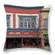Mill End Store In Clare Michigan Throw Pillow