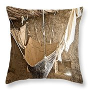 Mill On The Way To Shigatse-tibet Throw Pillow
