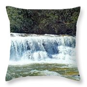 Mill Shoals Waterfall During Flood Stage Throw Pillow
