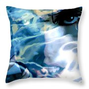Milla Jovovich Portrait - Water Reflections Series Throw Pillow