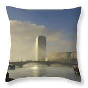 Millbank Tower During Fog, Lambeth Throw Pillow
