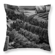 Millenium Park From Above Throw Pillow