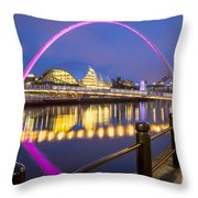 Millennium Bridge - Gateshead Throw Pillow