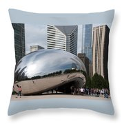 Millennium Park View Throw Pillow