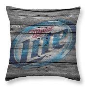 Miller Lite Throw Pillow