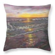 Miller Ocean Sunset Throw Pillow