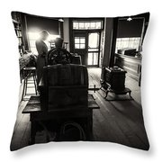 Millinary Store Throw Pillow