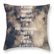 Millionaire Throw Pillow