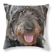 Milo Throw Pillow by Lisa Phillips