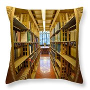Milstein Room Nyc Library Throw Pillow