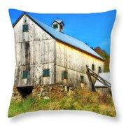 Milton Barn In Orton Throw Pillow