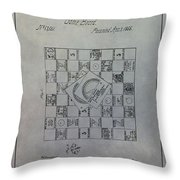 Milton Bradley Life Game Patent Throw Pillow