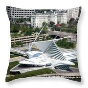 Milwaukee Art Museum Aerial Throw Pillow