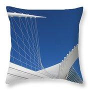 Milwaukee Art Museum Closeup 1 Throw Pillow