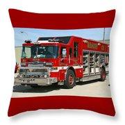 Milwaukee Fire Dept. Rescue 1  Throw Pillow