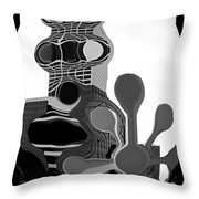 Milwaukee In Abstract Throw Pillow
