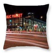 Milwaukee Public Market Throw Pillow
