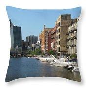 Milwaukee River Architecture 2 Throw Pillow